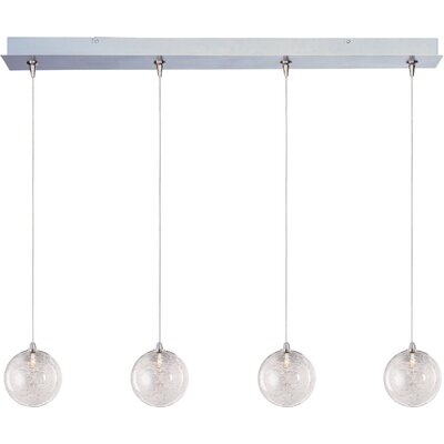 Kugler 4-Light RapidJack Globe Shade Pendant and Canopy