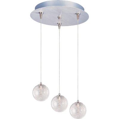 Kugler 3-Light RapidJack Glass Shade Pendant and Canopy