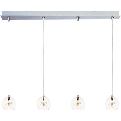Kugler 4-Light RapidJack Pendant and Canopy Shade Color: Clear
