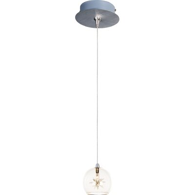 Kugler 1-Light RapidJack Bowl Shade Pendant and Canopy Shade Color: Clear