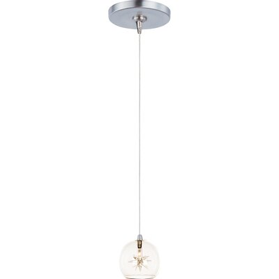 Kugler 1-Light RapidJack Pendant and Canopy Shade Color: Clear