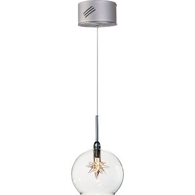 Kugler 1-Light Glass Shade Globe Pendant Shade Color: Clear