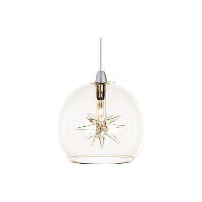 Kugler 1-Light Wire Globe Pendant Shade Color: Clear