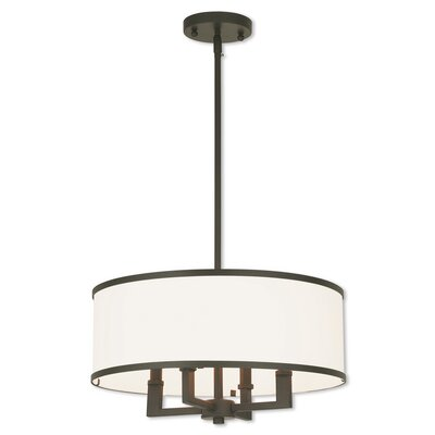 Bisbee 4-Light Drum Chandelier Finish: Bronze
