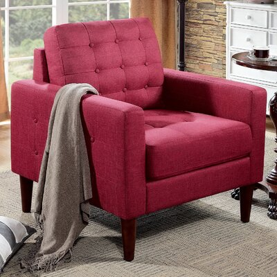 Amore Tufted Buttons Armchair Upholstery: Burgundy Wine