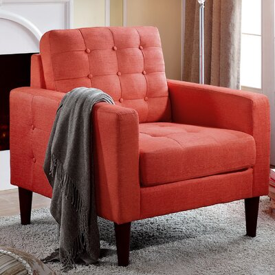 Amore Tufted Buttons Armchair Upholstery: Zuma Atomic