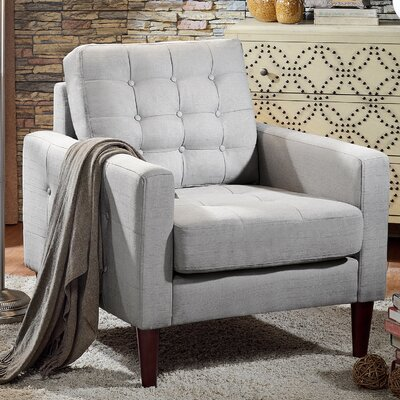Amore Tufted Buttons Armchair Upholstery: Dove Grey