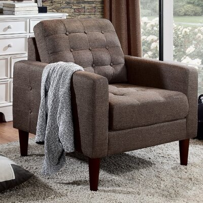 Amore Tufted Buttons Armchair Upholstery: Mocha