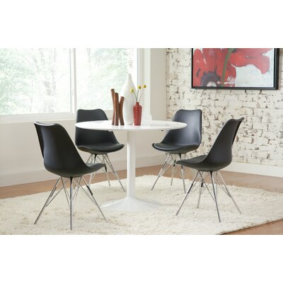 Eridani Side Chair Upholstery: Black