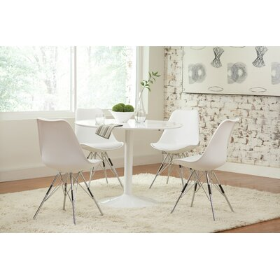 Eridani Side Chair Upholstery: White