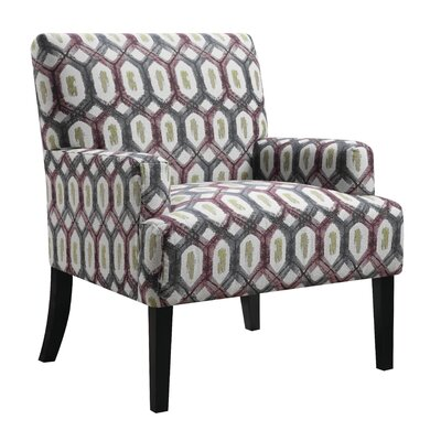 Daleyza Armchair Upholstery: Red/Gray