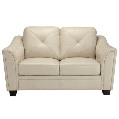 Jayla Loveseat Upholstery: Cream