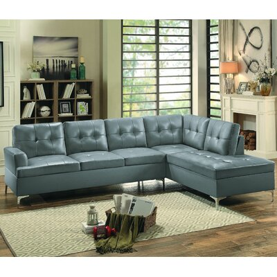 Aura Sectional Upholstery: Gray
