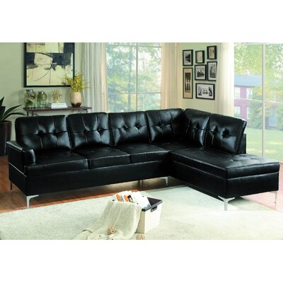 Hydri Sectional Upholstery: Black