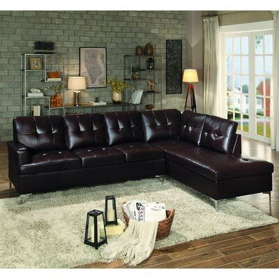 Aura Sectional Upholstery: Brown