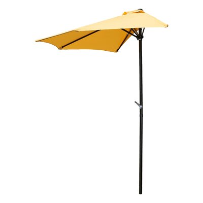 Dade City North 9 Market Umbrella Fabric: Lemon Yellow