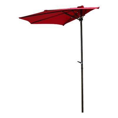 9 Bordner  Market Umbrella Fabric: Ruby Red