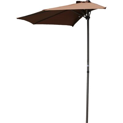 Dade City North 9 Market Umbrella Fabric: Chocolate