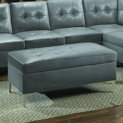 Aura Cocktail Ottoman Upholstery: Gray