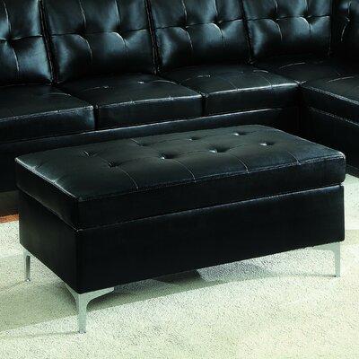 Aura Ottoman Upholstery: Black
