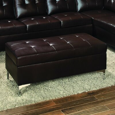 Aura Cocktail Ottoman Upholstery: Brown