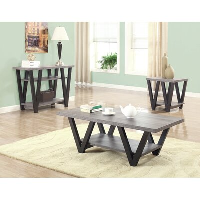 Amar 3 Piece Coffee Table Set