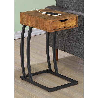 Keira End Table With Storage Color: Antique Nutmeg