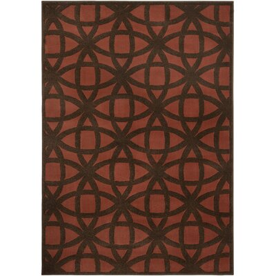 Merry Geometric Rust/Brown Area Rug Rug Size: Rectangle 710 x 1010