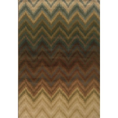 Vandiver Brown Area Rug Rug Size: 53 x 76