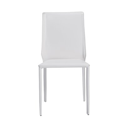 Marylynn Side Chair Upholstery: White