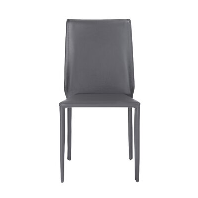 Marylynn Metal Frame Side Chair (Set of 4) Upholstery: Dark Gray
