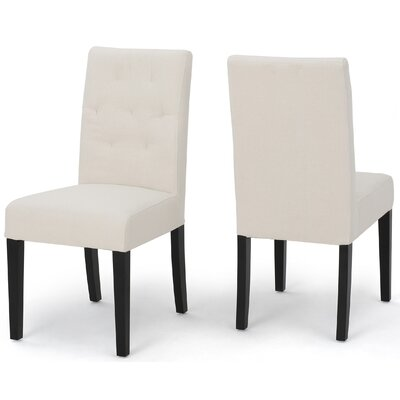 Balas Dining Side Chair Upholstery: Ivory