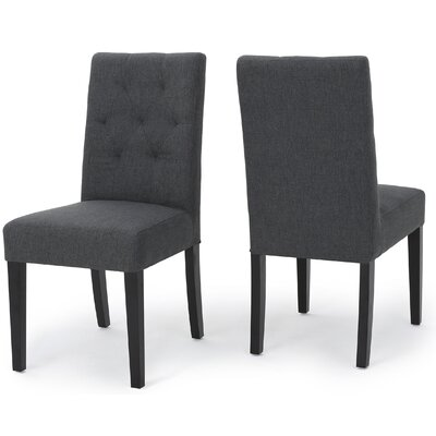 Balas Dining Side Chair Upholstery: Dark Gray