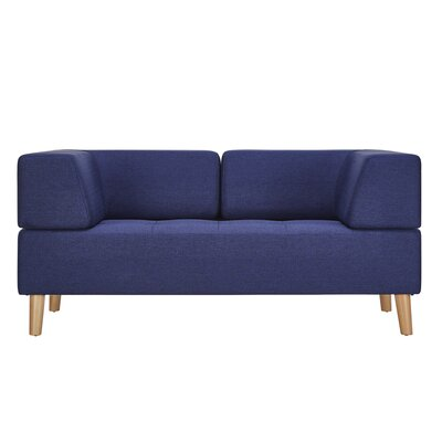 Alley Linen Loveseat Upholstery: Twilight Blue