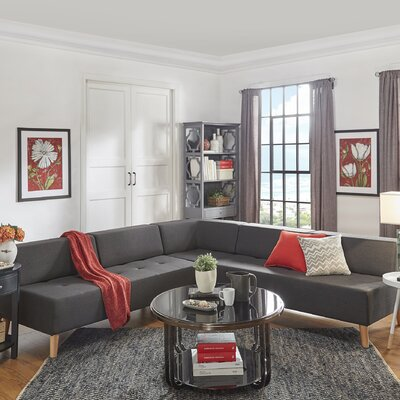 Alley Modular Sectional Upholstery: Dark Gray