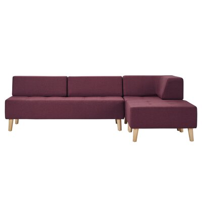 Alley Modular Sectional Upholstery: Tawny Port