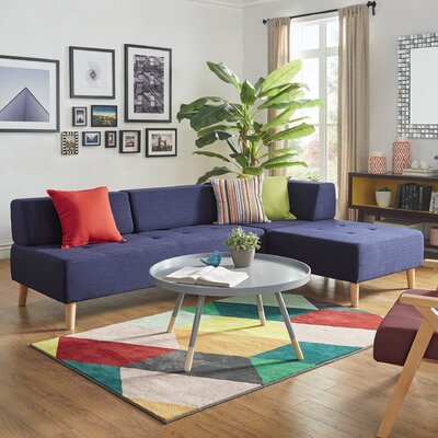 Alley Modular Sectional Upholstery: Twilight Blue