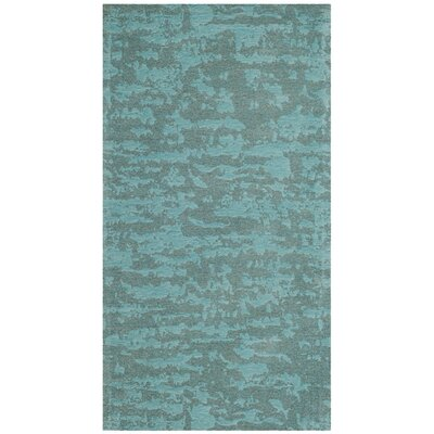Holsworth Hand-Woven Blue Area Rug Rug Size: 5 x 8