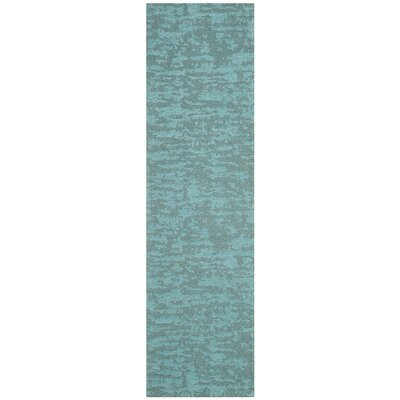 Holsworth Hand-Woven Blue Area Rug Rug Size: Runner 23 x 8