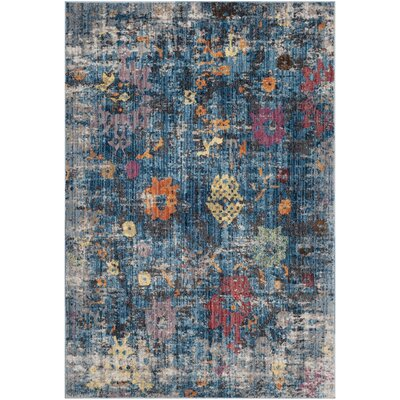 Vanalstyne Blue/Light Gray Area Rug Rug Size: Square 7