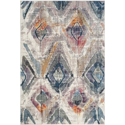 Newport Lavender/Light Gray Area Rug Rug Size: Square 7