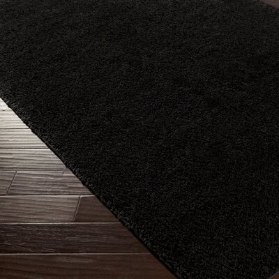 Bennette Black Area Rug Rug size: Rectangle 3 x 5