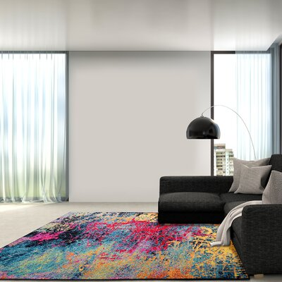 Brannigan Red / Yellow Area Rug Rug Size: Rectangle 710 x 102