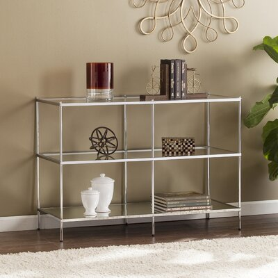 Busey Glam Mirrored Console Table