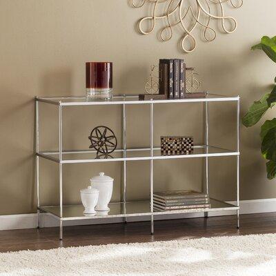 Alejandre Glam Mirrored Console Table