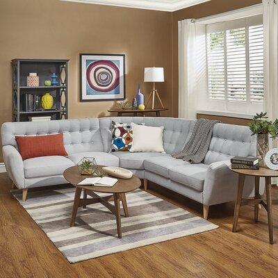 Blakeman Sectional Upholstery: Blue Haze