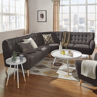 Blakeman Reversible Sectional Upholstery: Dark Gray