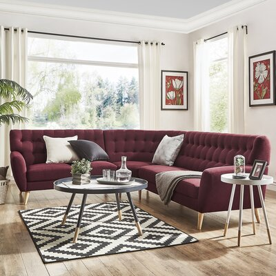 Blakeman Sectional Collection Upholstery: Tawny Port