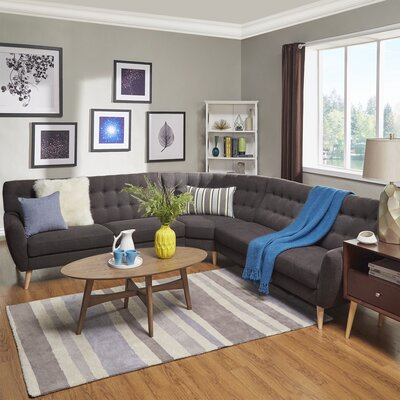 Blakeman Sectional Upholstery: Dark Gray