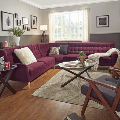 Blakeman Sectional Upholstery: Tawny Port